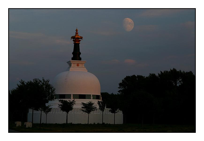 Pagode im Mondlicht