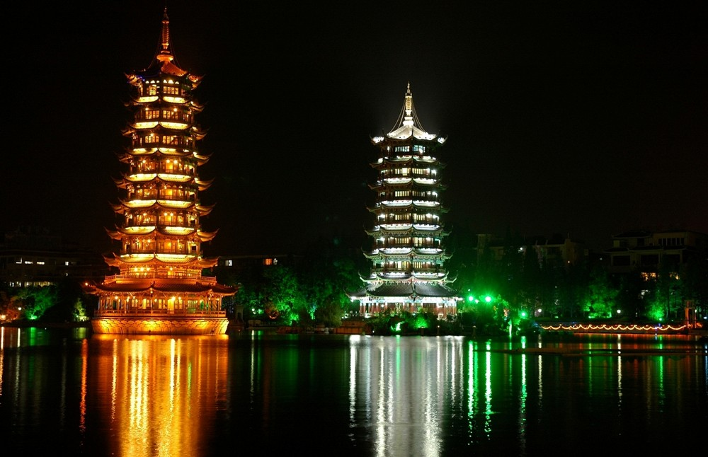 Pagode Towers in Guilin