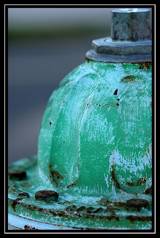 painted hydrant