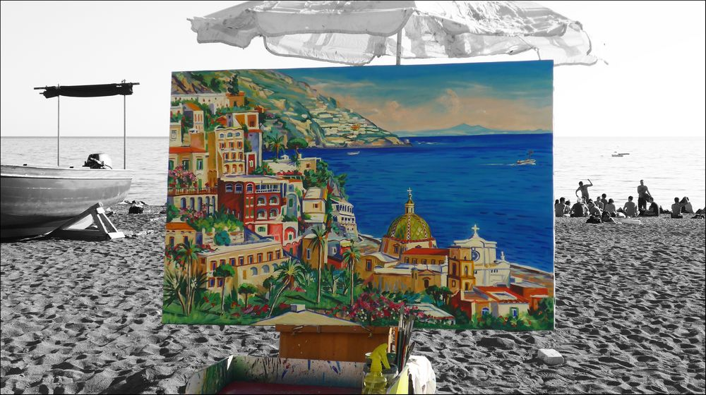 Painting Positano