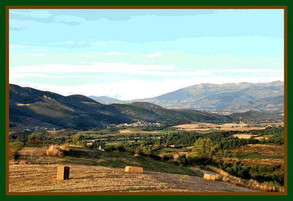Paisaje desde Montellà del Cadí