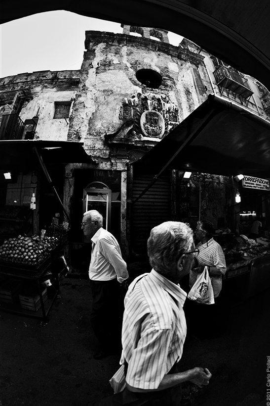 Palermo, old market Ballarò