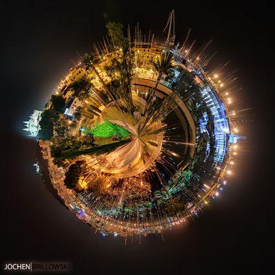 Palma de Mallorca - Yachthafen als Little Planet