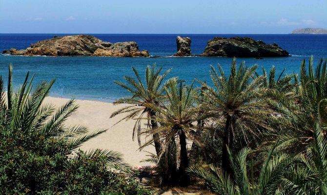 Palmenstrand/ Vai Insel Kreta