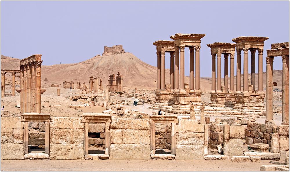 Palmyra, Tetrapylon mit Drusenfestung