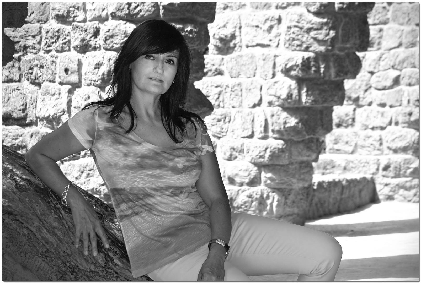 Paloma en el Parc Güell. ¿Fotógrafa? ¿Modelo? ¡Artista!