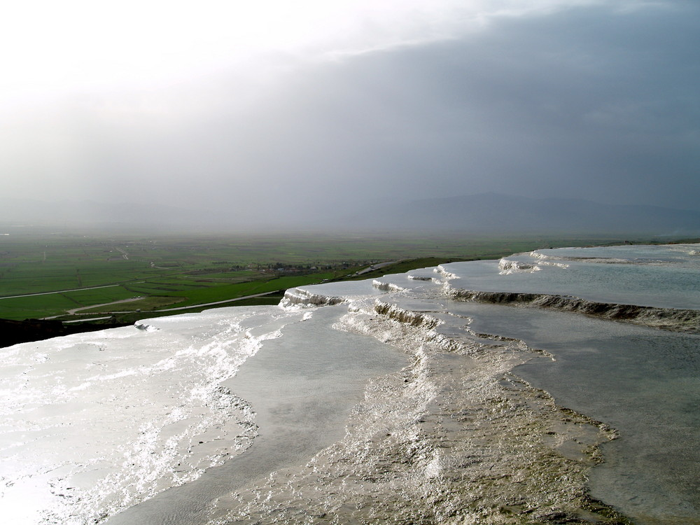 Pamukkale - Blick vom Kalkgebirge