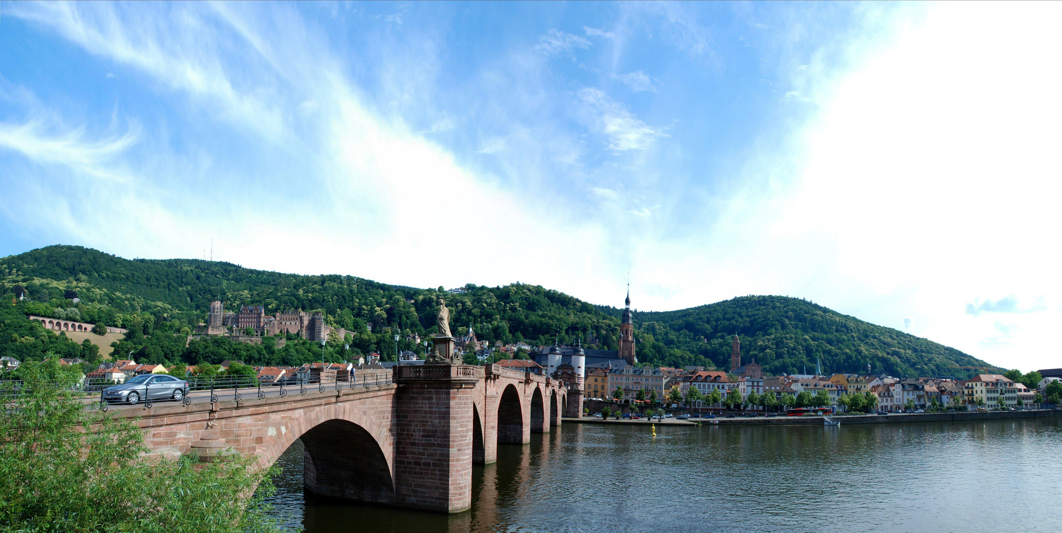 Pan-Foto Neckarbrücke