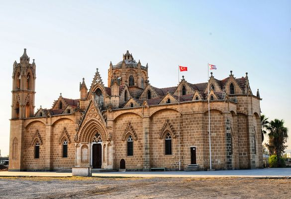 Panagia Church and Akdogan Mosque in Northern Cyprus  K.K. T.C
