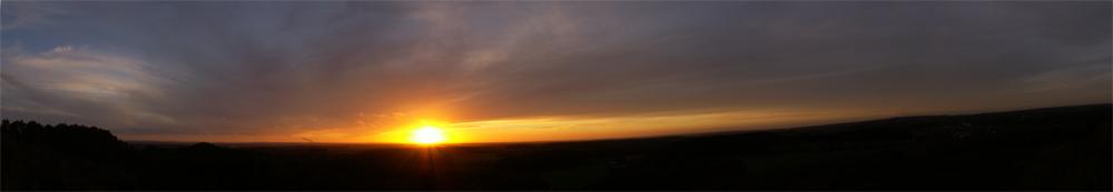 Panaorama Piesberg Sonnenuntergang