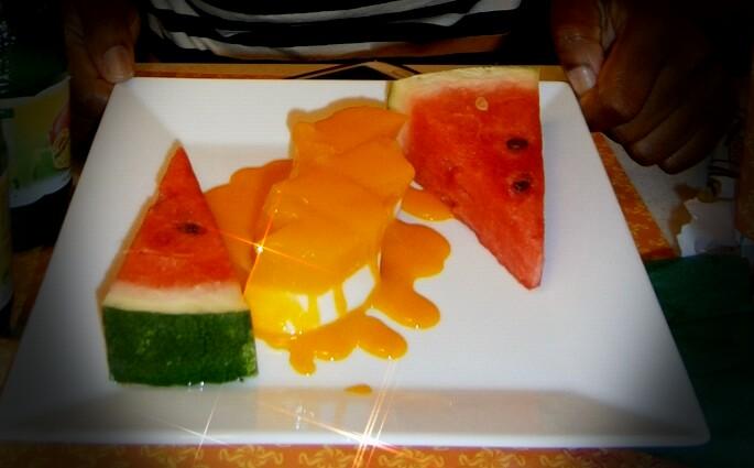 Panna Cotta mit Mango Sauce