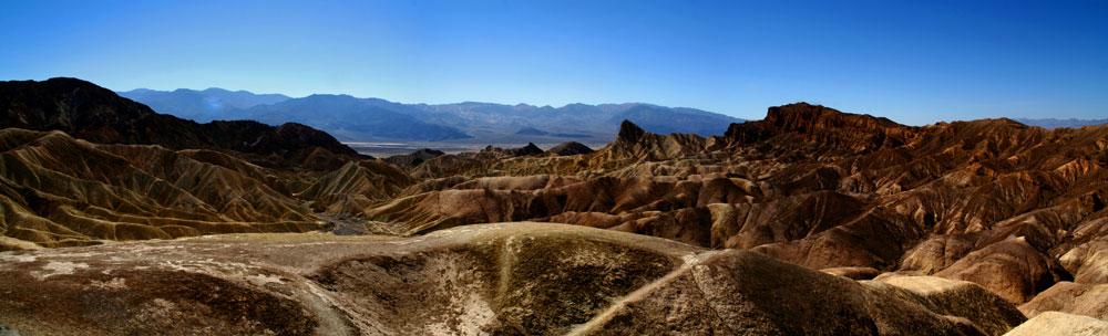 Panorama 3 vom Death Valley - Zabriskie Point