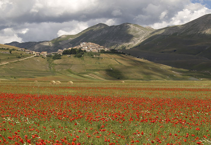 panorama a Castelluccio-umbria