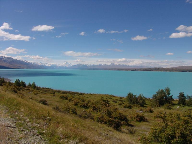 Panorama am Lake Tekapo in Neuseeland