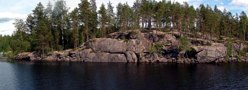 Panorama am Puula-See in Hirvensalmi, Finnland