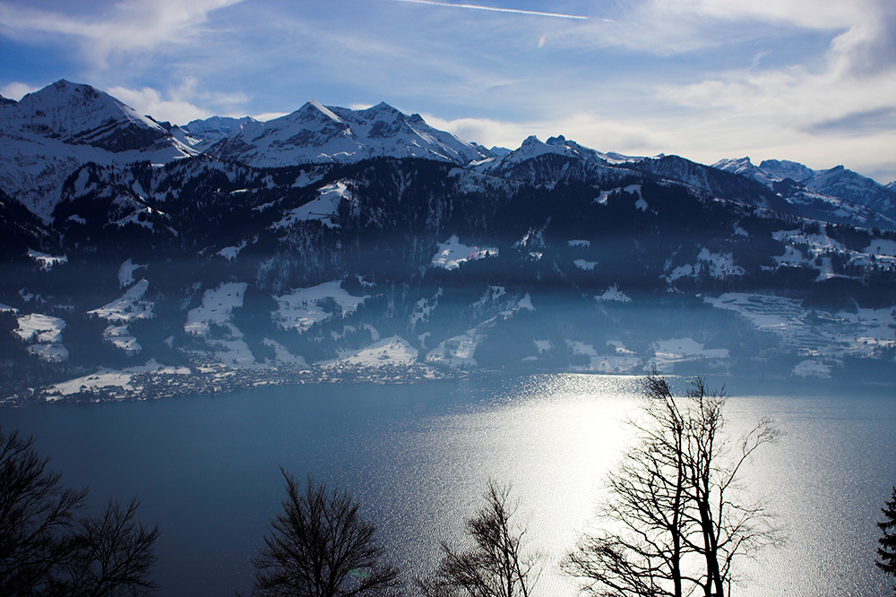 Panorama am Thuner See (Beatenberg bei Interlaken, Schweiz)