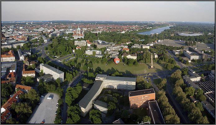 Panorama aus der Luft ...