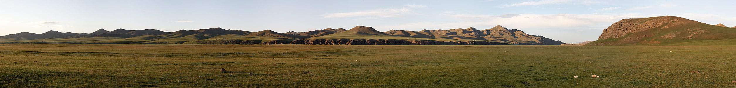 Panorama aus der mongolischen Steppe