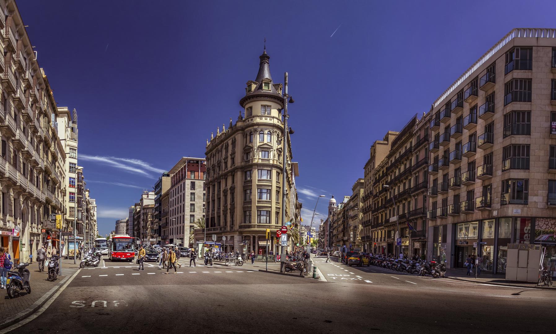 Panorama barcelona calle pelayo imagen foto panorama for Oficinas de pelayo en barcelona