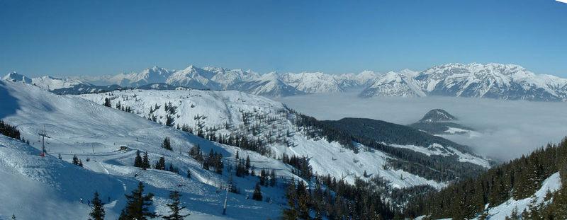 Panorama beim Aufstieg auf das Wiedersberger Horn / Alpbachtal...