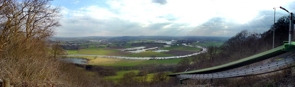 Panorama Blick von der Wittekindsburg