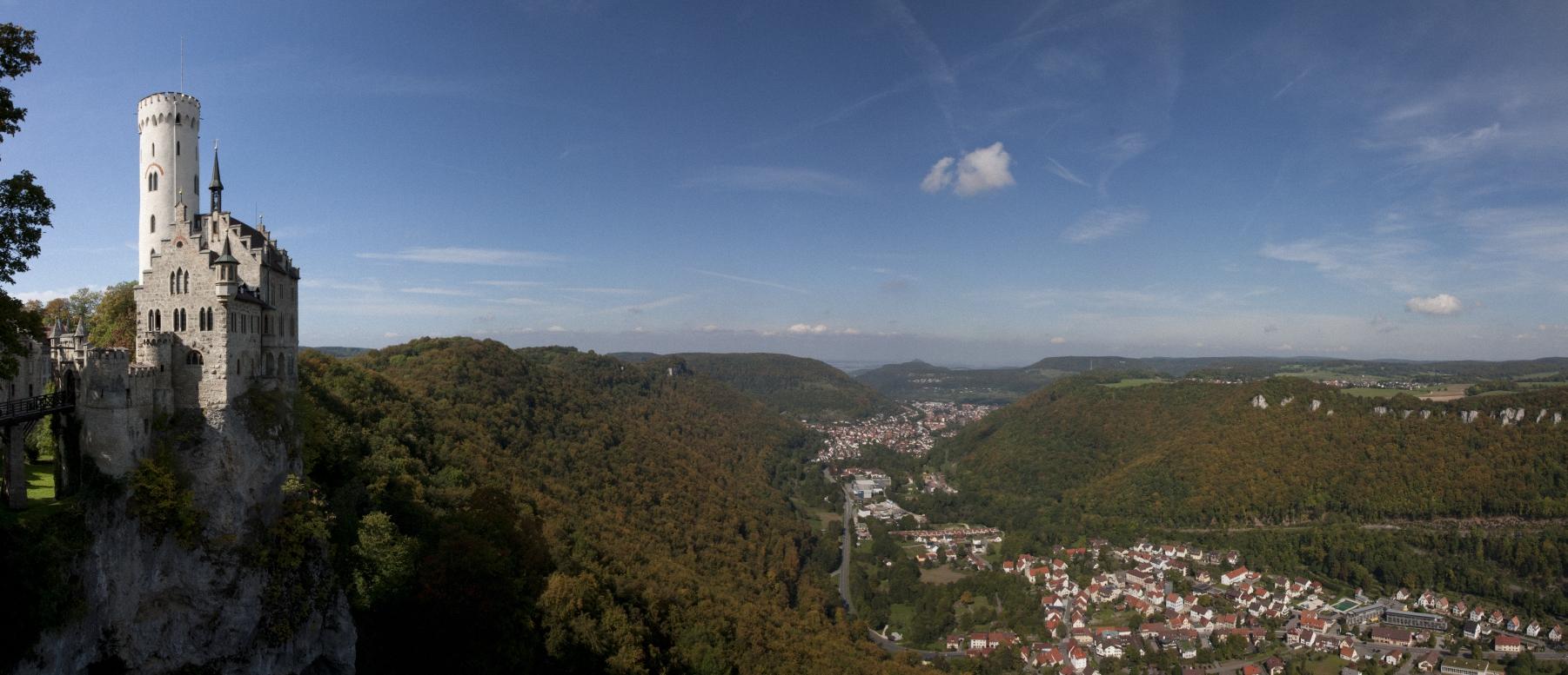 Panorama Burg Lichtenstein