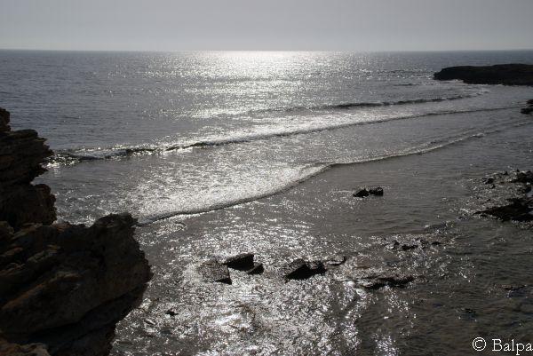 Panorama dagli scogli di Is Aruttas (Or)