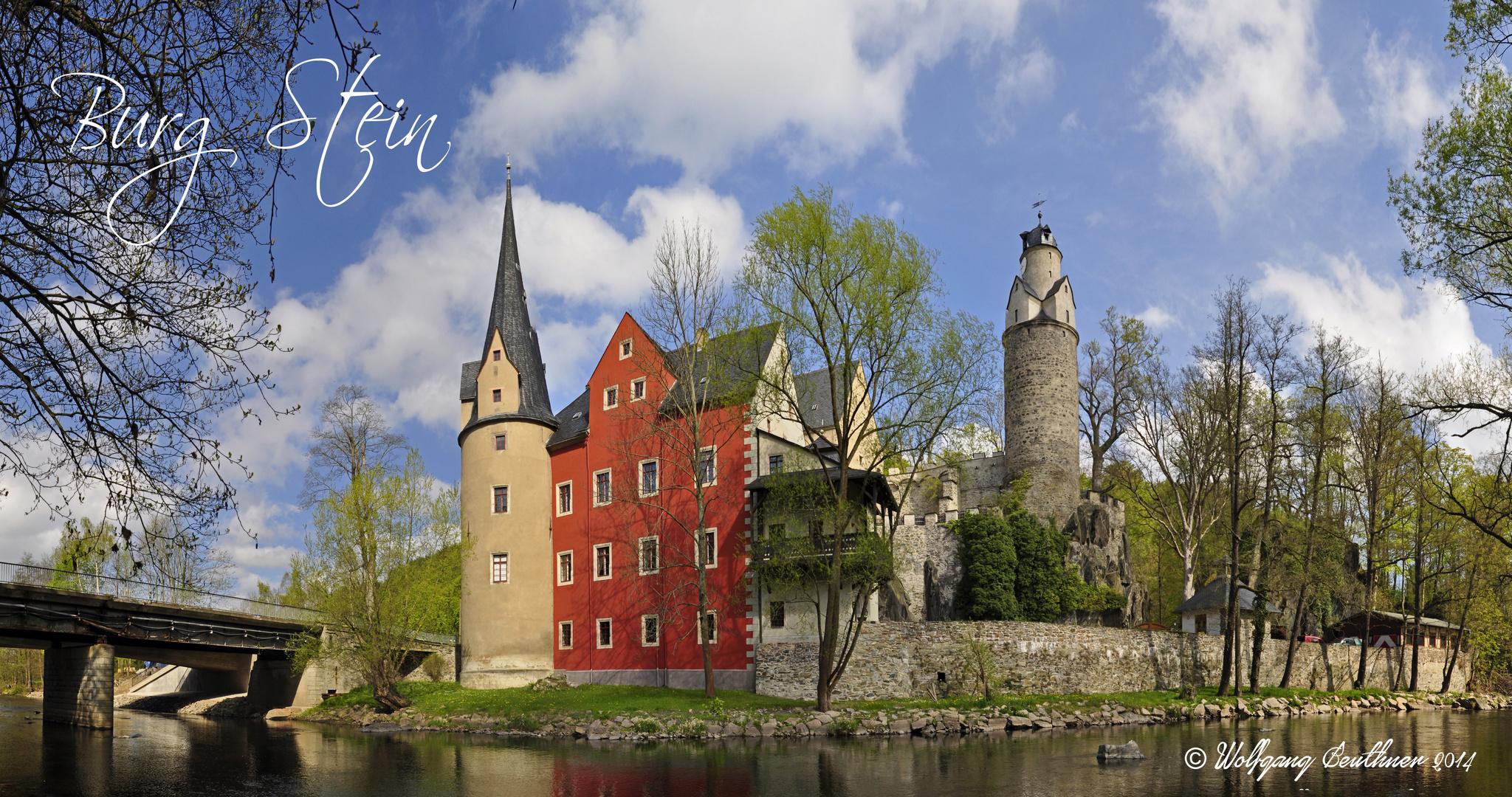 Panorama der Burg Stein bei Hartenstein (Landkreis Zwickau)