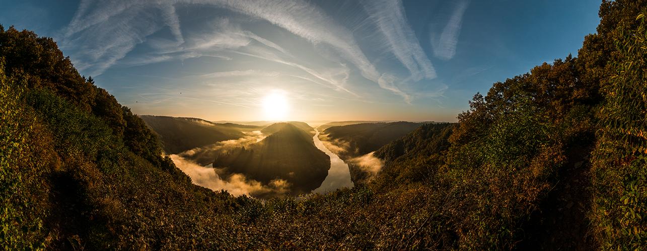 Panorama der Saarschleife