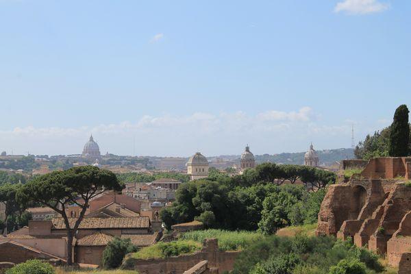 Panorama di Roma dai Palazzi di Domiziano