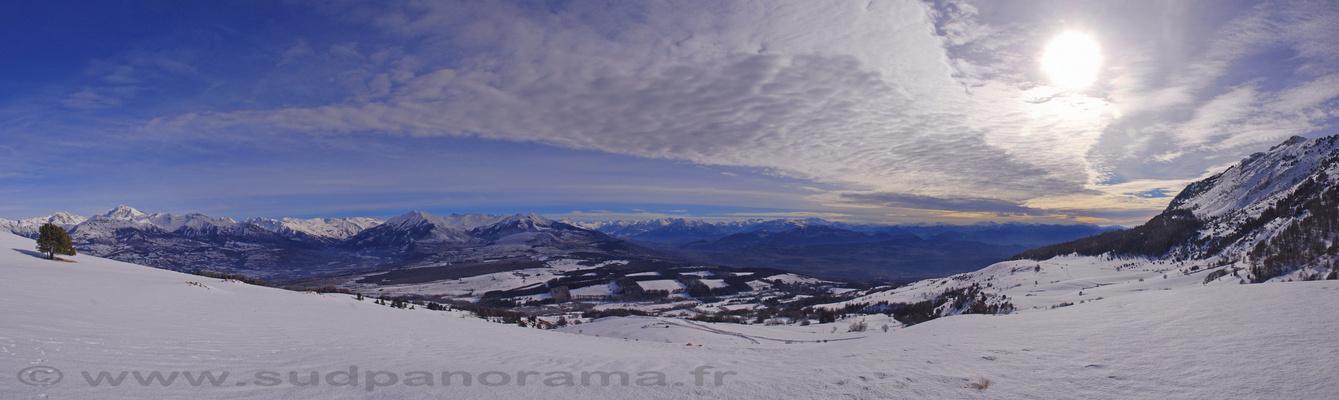 Panorama du Champsaur à 180°