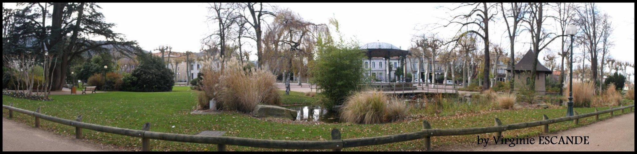 Panorama du jardin des Promenades à Mazamet
