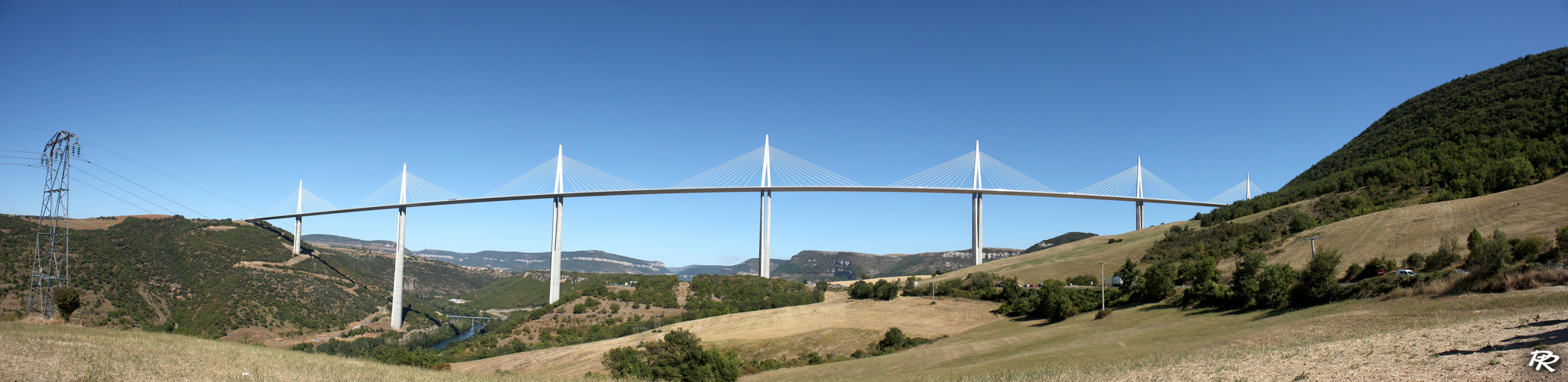 Panorama du Viaduc de Millau