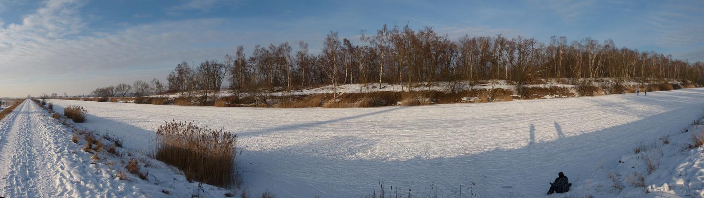 Panorama Elster-Saale-Kanal Dölzig