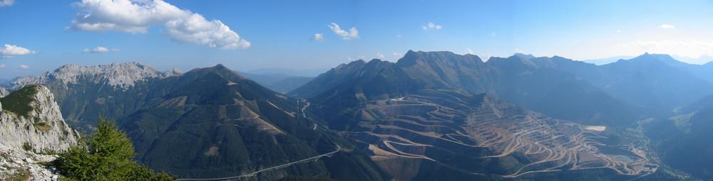 Panorama Erzberg