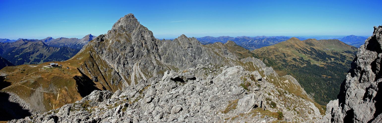 Panorama Fiderescharte nach Nordwesten!