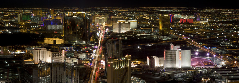 panorama from stratosphere tower