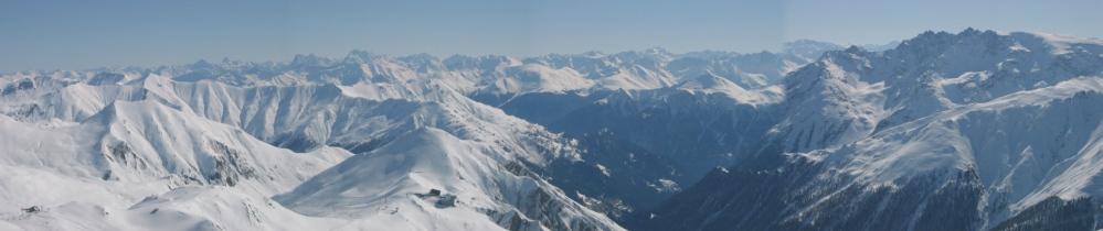 Panorama Greitspitz Samnaun