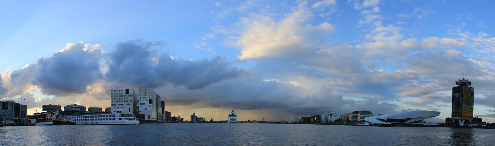 Panorama: Hafen Amsterdam