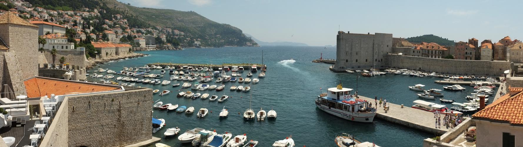 Panorama Hafen von Dubrovnik