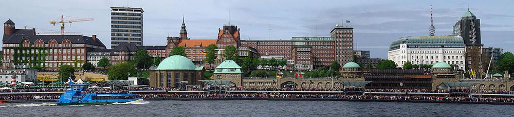 Panorama Hafengeburtstag Hamburg 2005