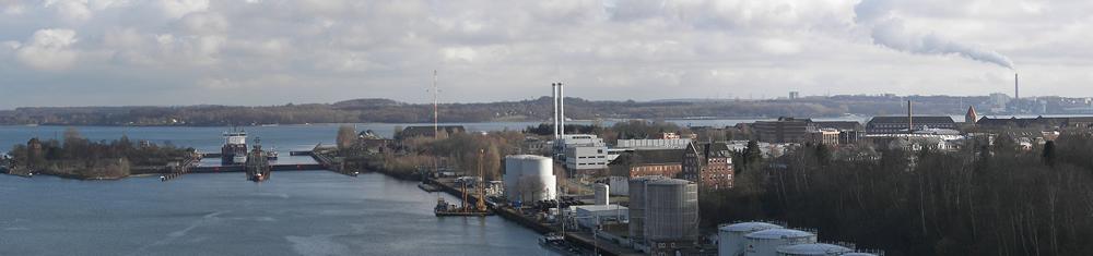 Panorama Kiel Nordostseekanal