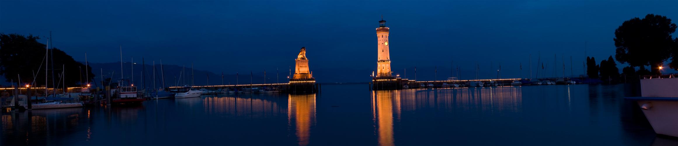 Panorama Lindauer Hafen...