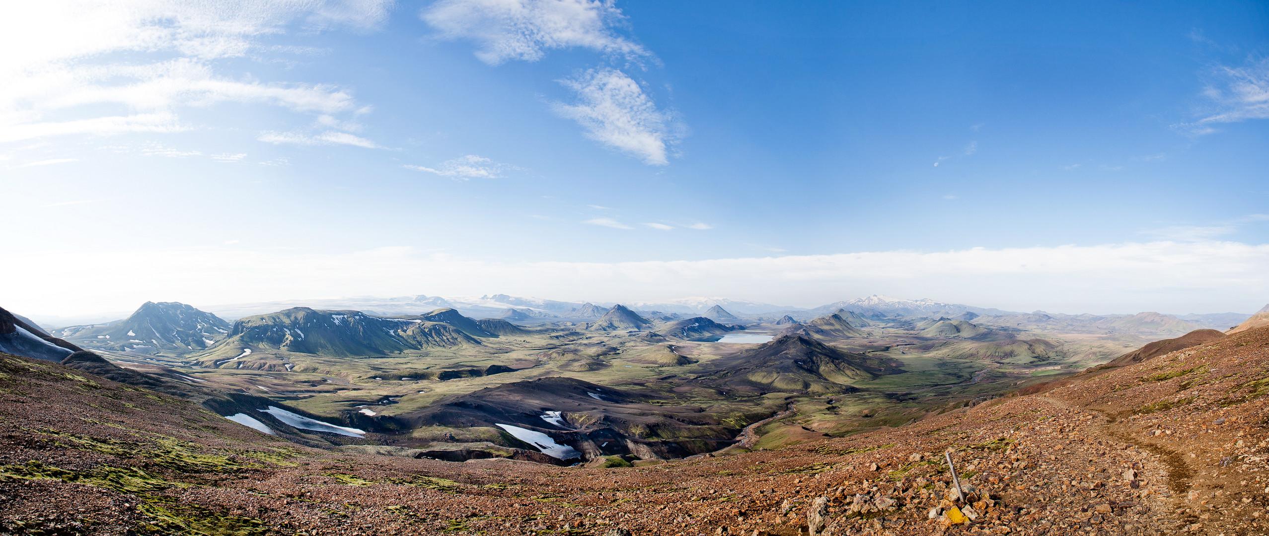 Panorama MYrdalsjökull / Eyjafjallajökull