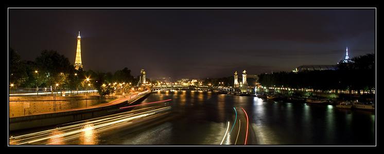 Panorama Paris by night