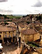 Panorama place poste Saint Emilion