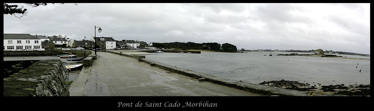 Panorama pont de Saint Cado, Morbihan