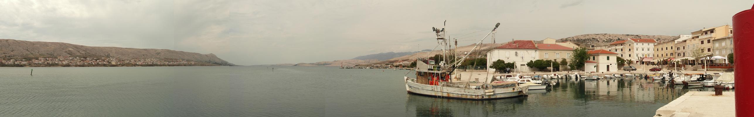 Panorama port de l'île de Pag