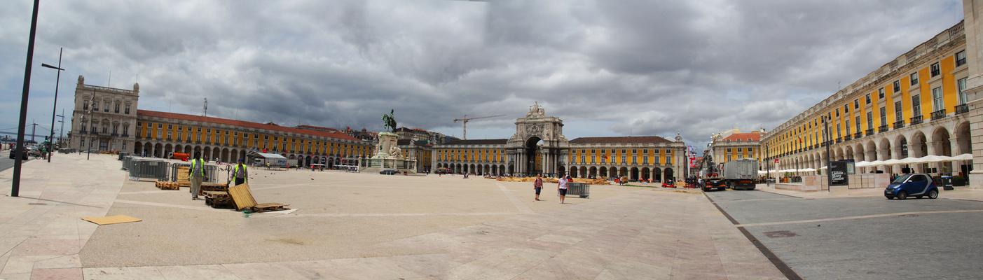 Panorama Praça do comercio, Lisbonne