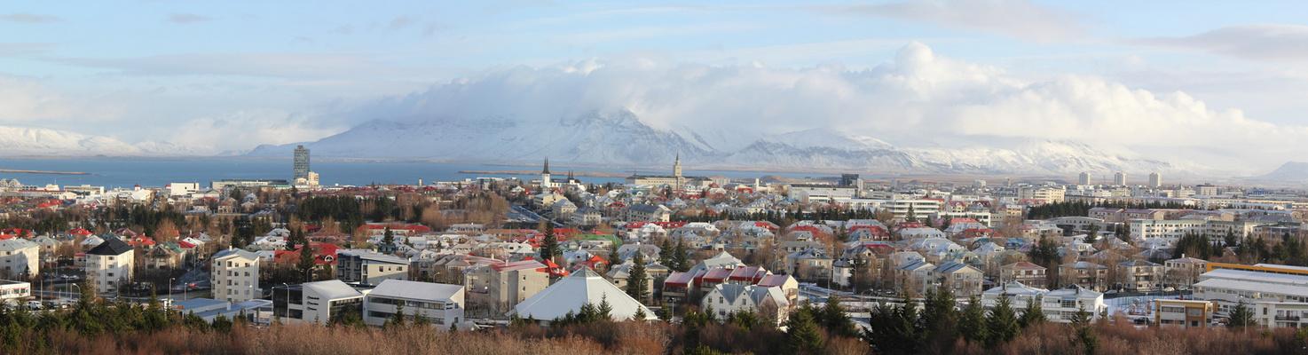 Panorama Reykjavik / Island